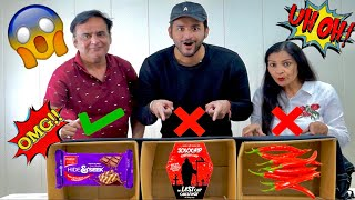 "Do not ""CHOOSE"" the WRONG MYSTERY BOX challenge VS MY DAD !!"