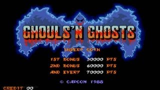 Ghouls'n Ghosts 1988 Capcom Mame Retro Arcade Games