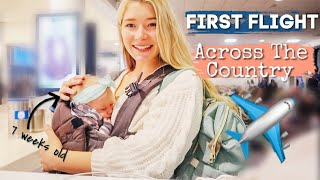 Baby's first airplane ride!! // Teen Mom Travel Vlog