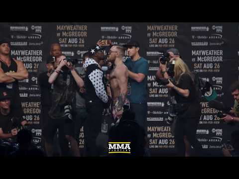 Thumbnail: Floyd Mayweather vs. Conor McGregor Tour Opening Staredown (Brooklyn) - MMA Fighting