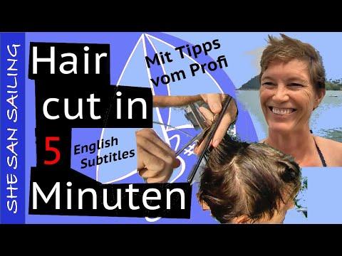 Ladies hair cut - Learn how to cut short hair (in 5 minutes)