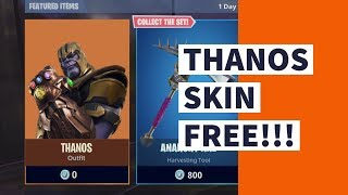 How to get CUSTOM THANOS skin FREE in Fortnite (HXD)