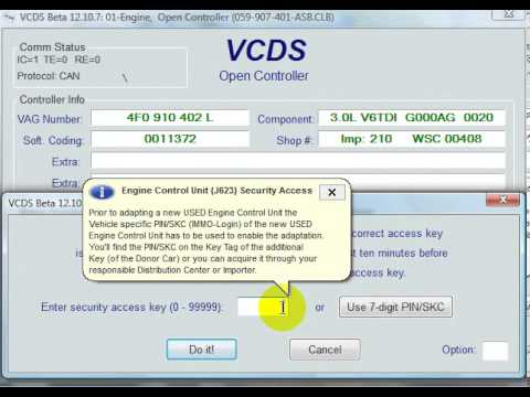 VCDS Module 1 Security access