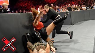 Download Ronda Rousey leaps from her ringside seat to attack Mickie James: WWE Extreme Rules 2018 Mp3 and Videos
