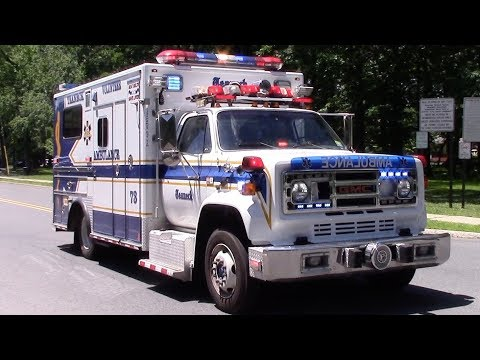 Teaneck Volunteer Ambulance 73 Responding With Federal Q And Old School Electric Siren 6-20-17