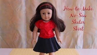 Htm Ag Doll No Sew Circle Skirt