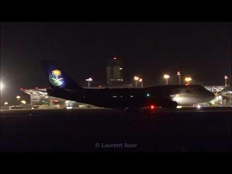 Boeing 747-3G1 Saudi Arabian Government (HZ-HM1A) landing at EuroAirport Basel-Mulhouse-Freiburg