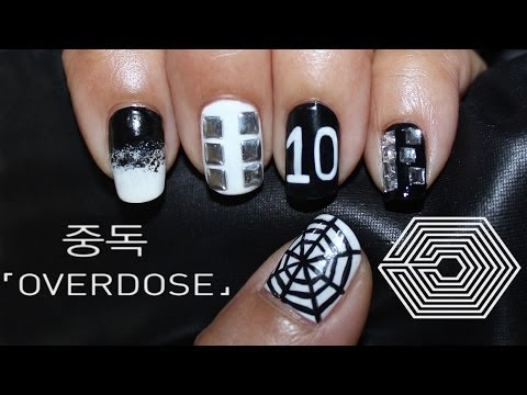 Exo Overdose (엑소 중독) Nail Art