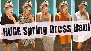 HUGE Spring / Summer Dress Haul & Try On || ASOS, Berska, Boohoo, New Look etc. || JESSICA CHELSEA