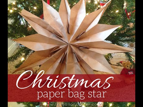 diy-christmas-paper-bag-star-(quick-10-minute-craft-for-kids-and-adults)