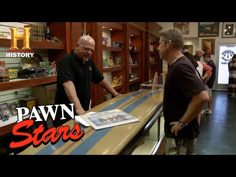 Pawn Stars: Rick Loses Out on One of a Kind Beach Boys Surfboard | History Mp3
