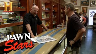 Pawn Stars: Rick Loses Out on One of a Kind Beach Boys Surfboard | History