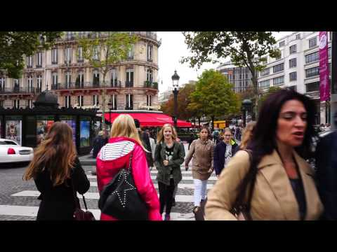 Views of Paris France @ Champs Elysees / Sony A6000 video