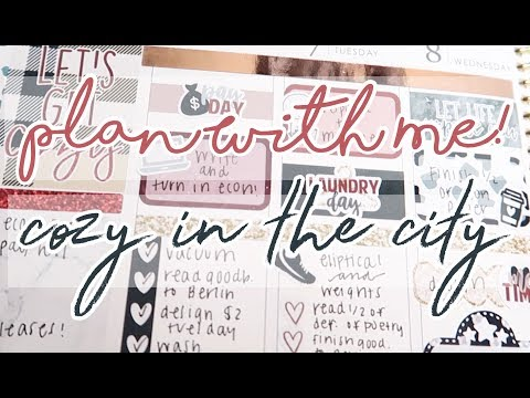Plan With Me! Cozy In The City Ft. Let's Make It Sparkle