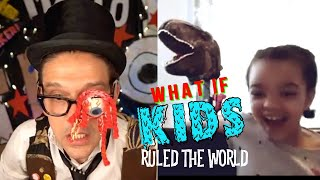 Kids react to magician's eyeball FALLING OUT!!