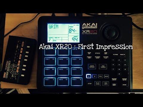Akai XR20 : First Impression