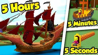 Build a Boat 5 5 5 CHALLENGE LIVE!!!! (5 Hours, 5 Minutes, 5 Seconds)