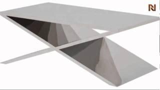 Prague Coffee Table Stainless Steel Hgta633 By Nuevo
