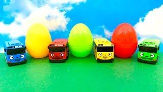 Tayo the Little Bus with Surprise Eggs  टायो छोटी बस, आश्चर्य