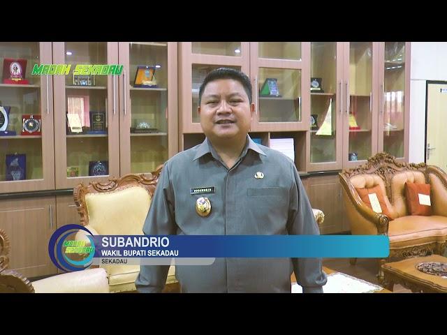 Greeting HUT Kabupaten Sintang ke-659 oleh Wakil Bupati Sekadau, Subandrio