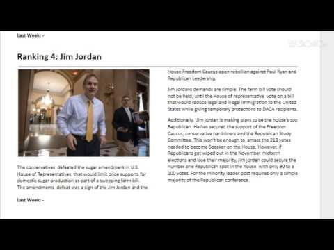 Jim Jordan Ranking 4: Week 22: US Politics Power Ranking