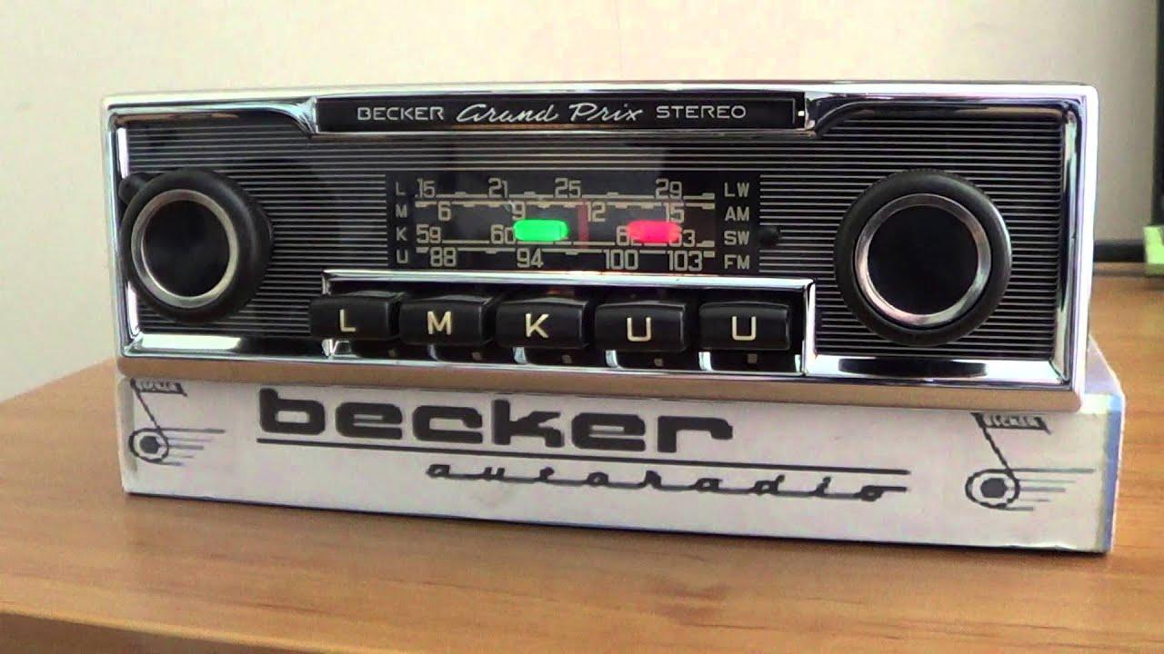 radio becker grand prix stereo mercedes w115 youtube. Black Bedroom Furniture Sets. Home Design Ideas