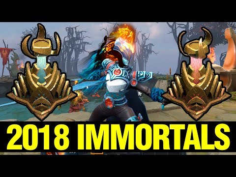 ALL 2018 NEW IMMORTALS IN GAME!! - NEW BATTLE PASS - Dota 2