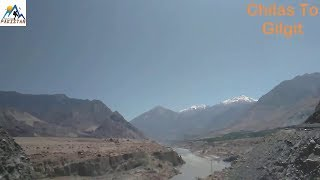 Chilas to Gilgit Road Travelling in car In Gilgit Baltistan Pakistan.