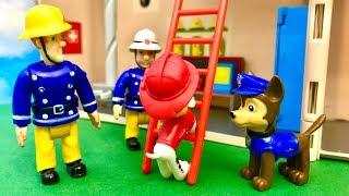 Strażak Sam i Psi Patrol   Chciałbym zostać strażakiem   Bajka dla dzieic PO POLSKU