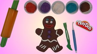 Play Doh Gingerbread Man (Shrek) - How to make with Playdough