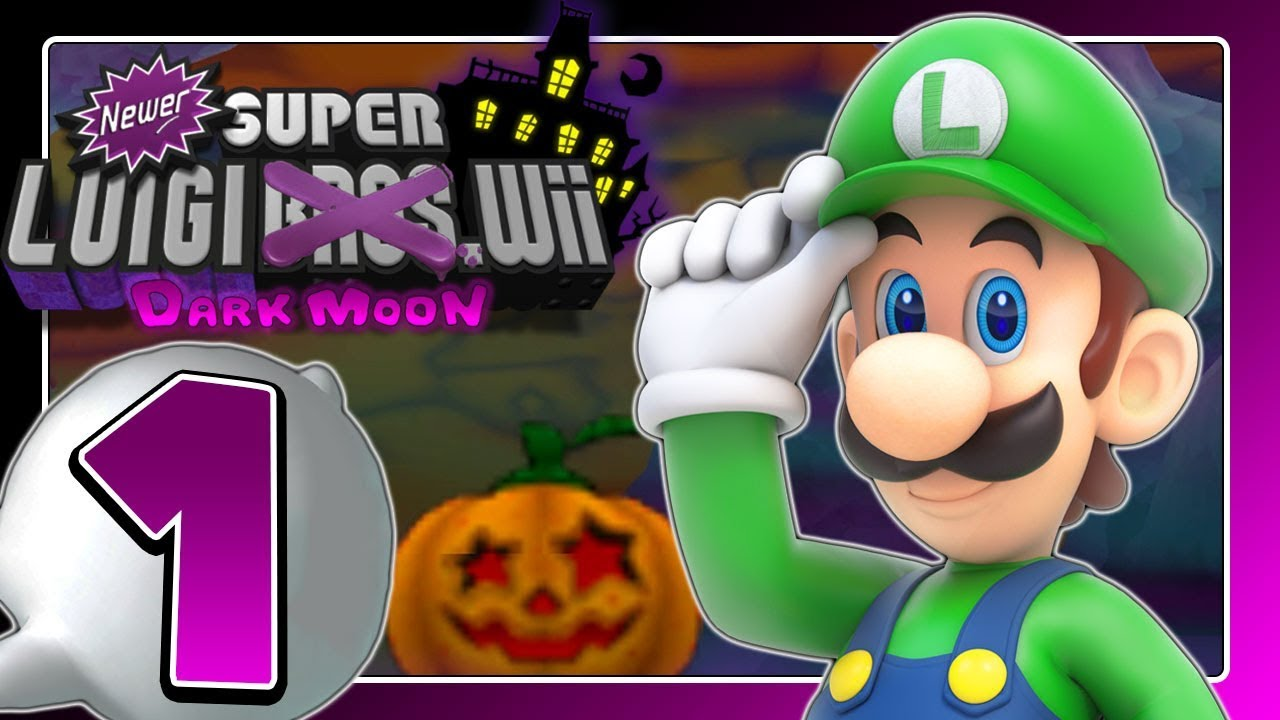 NEWER SUPER LUIGI WII DARK MOON 👻 Part 1: Luigis gespenstischer New Super  Mario Bros  Wii Hack