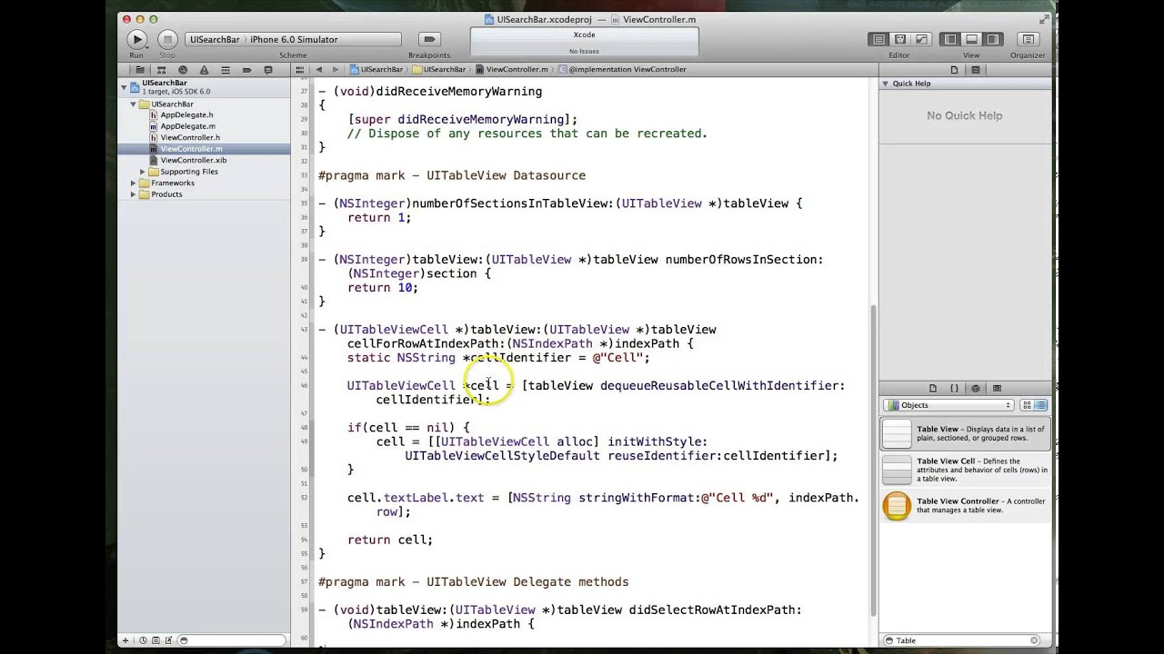 iOS Tutorial: Working with UISearchBar / Filterable TableView - PART 1