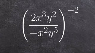 Using multiple properties of exponents simplify the expression