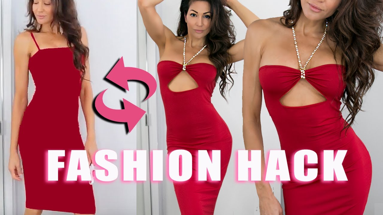 31ef4bdc14e28 FASHION HACK - DRESS DEDICATED to this WEIRD UNDERBOOB TREND! - YouTube