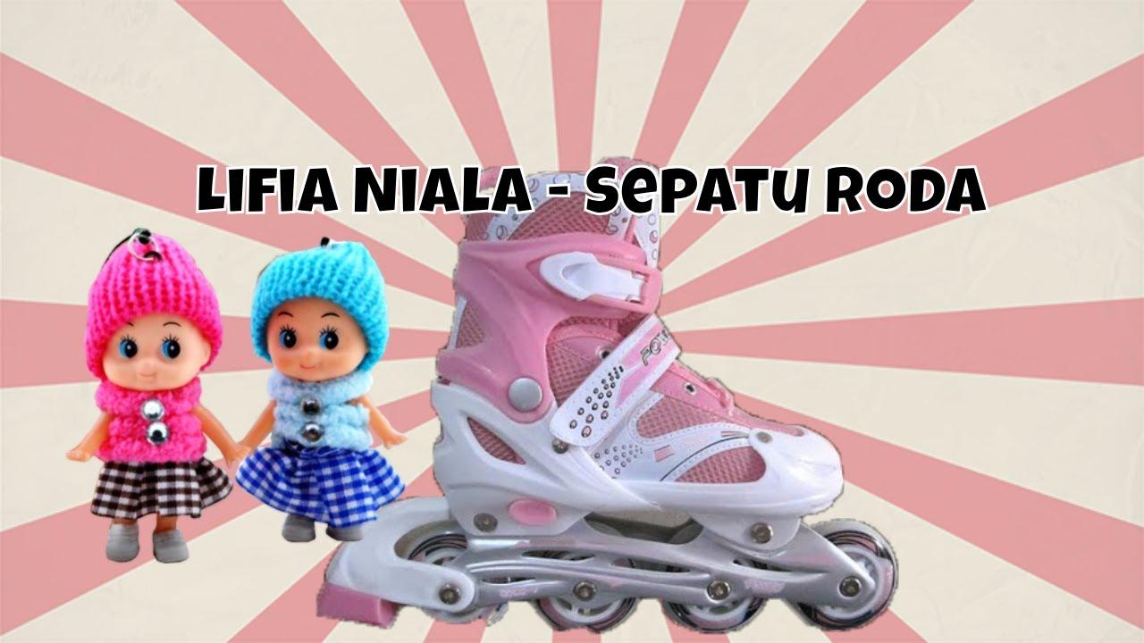 Lifia Dan Niala Main Sepatu Roda Unboxing Inline Skates For Kids