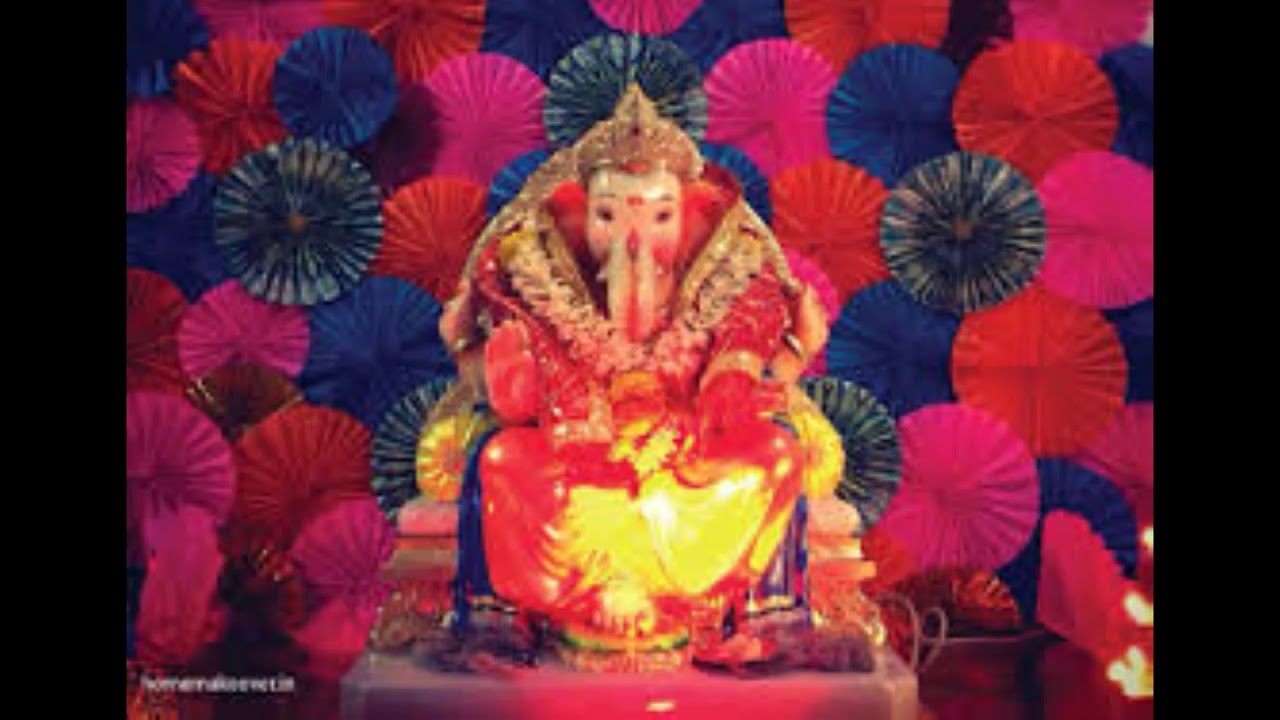 Ganesh Chaturthi Puja Decoration Ideas With Flowers Balloons