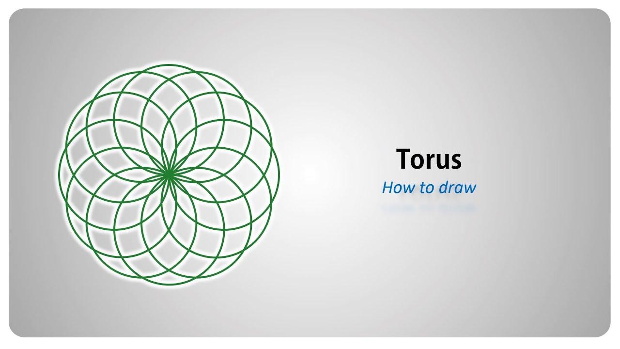 How To Draw  A Torus (vortex)  Step By Step Tutorial (english)