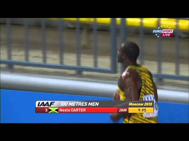 Usian Bolt - Finale 100m Moskau 2013