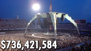 Top 10 Highest Grossing Music Tours of All Time