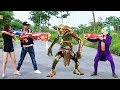 Superhero action Super HERO MAN Nerf guns Cyclops Clown SWAT Team combat Zombie…
