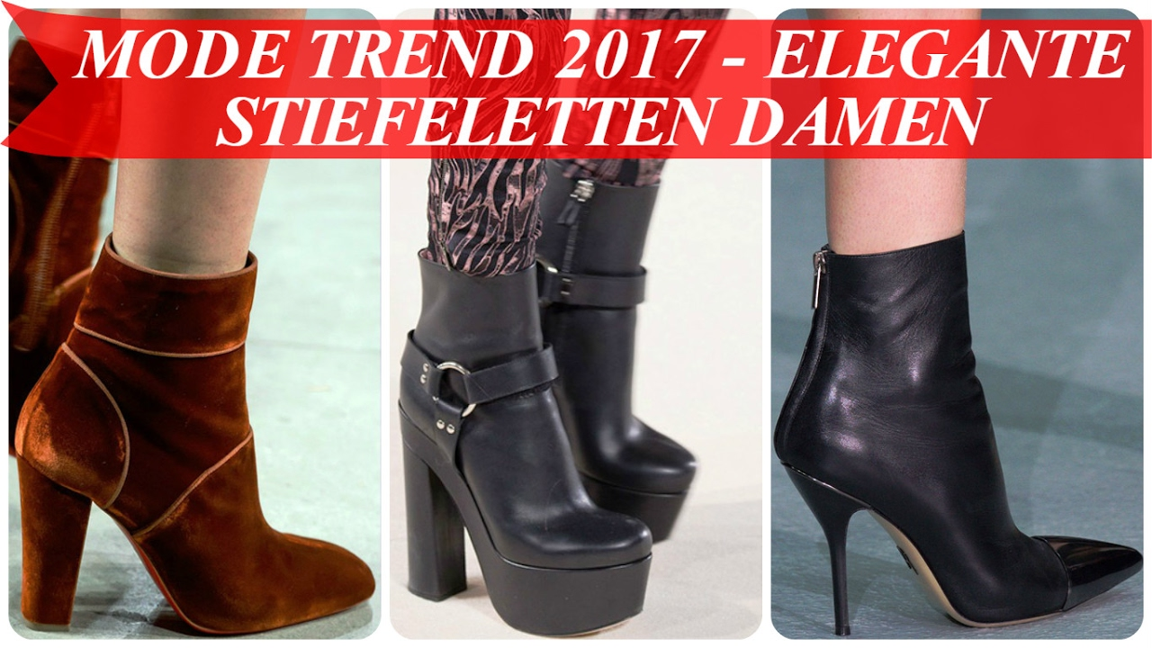 mode trend 2017 elegante stiefeletten damen youtube. Black Bedroom Furniture Sets. Home Design Ideas