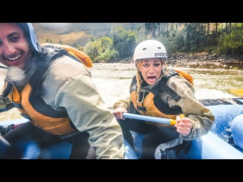 CRAZY WHITE WATER RAFTING!!