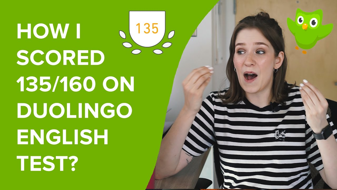HOW TO SCORE 135/160 ON DUOLINGO ENGLISH TEST | tips and tricks