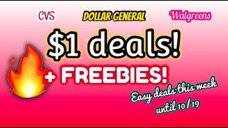 $1 DEALS + FREEBIES OF THE WEEK! DOLLAR GENERAL + CVS + WALGREENS! ALL DIGITAL COUPONS!