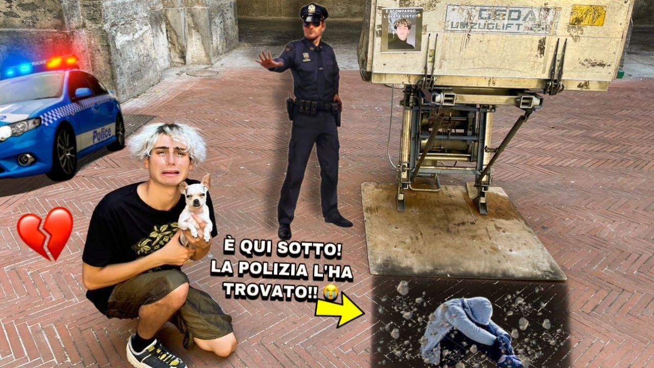 VINCI È SCOMPARSO...LO CERCHIAMO PER TUTTA LA CITTÀ!! *la polizia ci aiuta*