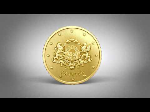 Latvijas eiro monetas 3D | Latvia euro coins 3D
