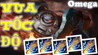 Liên Quân Mobile: Troll game cùng OMEGA Người máy xanh lên Full gươm sấm sét :)