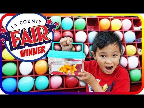 GOLD FISH Ballon Challenge Winner, LA County Fair 2017, Family Fun Game Time – TigerBox HD