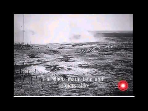 German trenches shelled in Somme, France