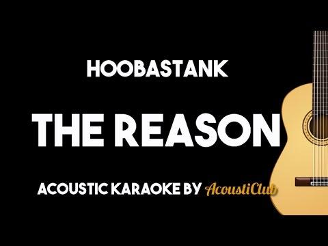 Hoobastank - The Reason (Acoustic Guitar Karaoke With Lyrics on Screen)